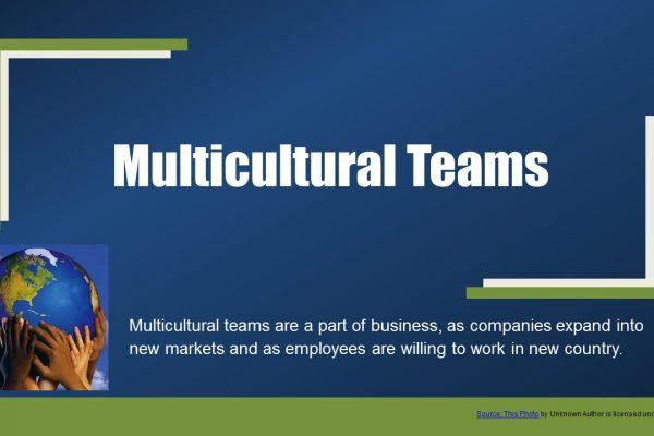 Multicultural teams
